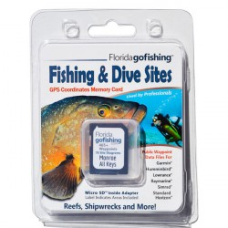 Image from Florida Go Fishing GPS Fishing & Dive Sites Memory Card - Monroe County