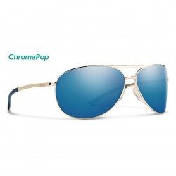Image from Smith Serpico 2.0 ChromaPop™ Polarized Sunglasses (Men's) - Gold/Blue Mirror