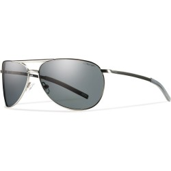Image from Smith Serpico Slim Polarized Sunglasses with  Gunmetal Frames and Grey Lenses