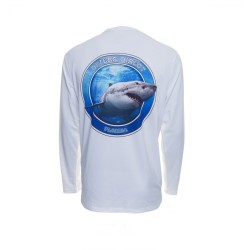 Image from Native Outfitters Great White Shark DRiQ UPF 50+ Long-Sleeve Sunshirt (Men's)