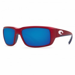 Image from Costa del Mar USA Limited Edition Fantail Sunglasses - USA Red