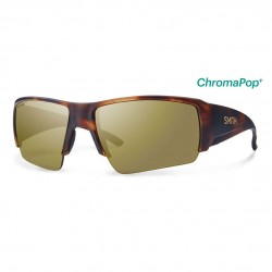 Image from Smith Captain's Choice Matte Havana Frames with Chromapop Bronze Mirror Lens