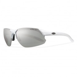 Image from Smith Parallel D Max Sunglasses with White Frames and Polarized Platinum Lens