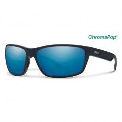 Image from Smith Redmond Sunglasses with Matte Black Frames and Chromapop Polarized Blue Mirror Lens