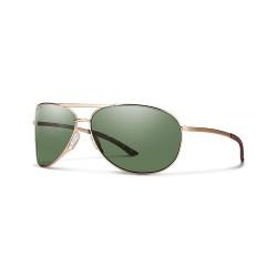 Image from Smith Optics Serpico 2.0 ChromaPop Polarized Polycarbonate  Sunglasses (Women's) - Gold/Green