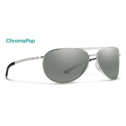 Image from Smith Serpico Slim 2 ChromaPop™ Polarized Sunglasses (Women's) - Silver/Platinum