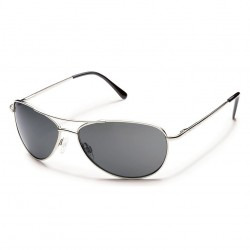 Image from Suncloud Patrol Silver Frames with Gray Lens Sunglasses