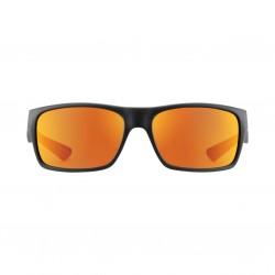 Image from Pelagic Fish Taco Sunglasses - Matte Black Frames with Sunrise Mirror Lenses
