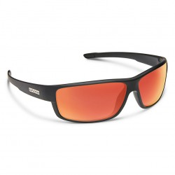 Image from Suncloud Voucher Polarized Polycarbonate Sunglasses - Matte Black/Red Mirror