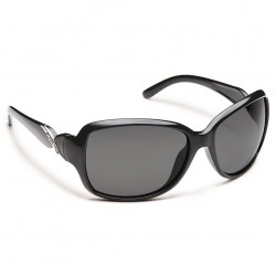Image from Soundcloud Weave Polarized Polycarbonate Sunglasses (Women's) - Black/Gray
