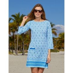 Image from Cabana Life Patterned Cabana +50 UPF Shift Dress (Women's)