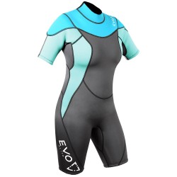 Image from EVO Elite Women's 3mm Shorty Wetsuit - 2017