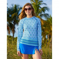 Image from Cabana Life Palace Blue Swim Skirt