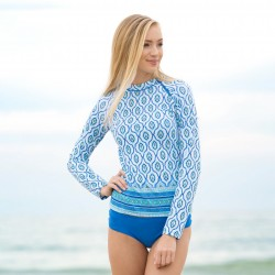Image from Cabana Life Printed Zipper +50 UPF Rashguard (Women's)