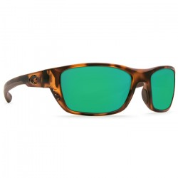Image from Costa Whitetip 580P Polarized Polycarbonate Sunglasses (Unisex) - Retro Tortoise/Green Mirror