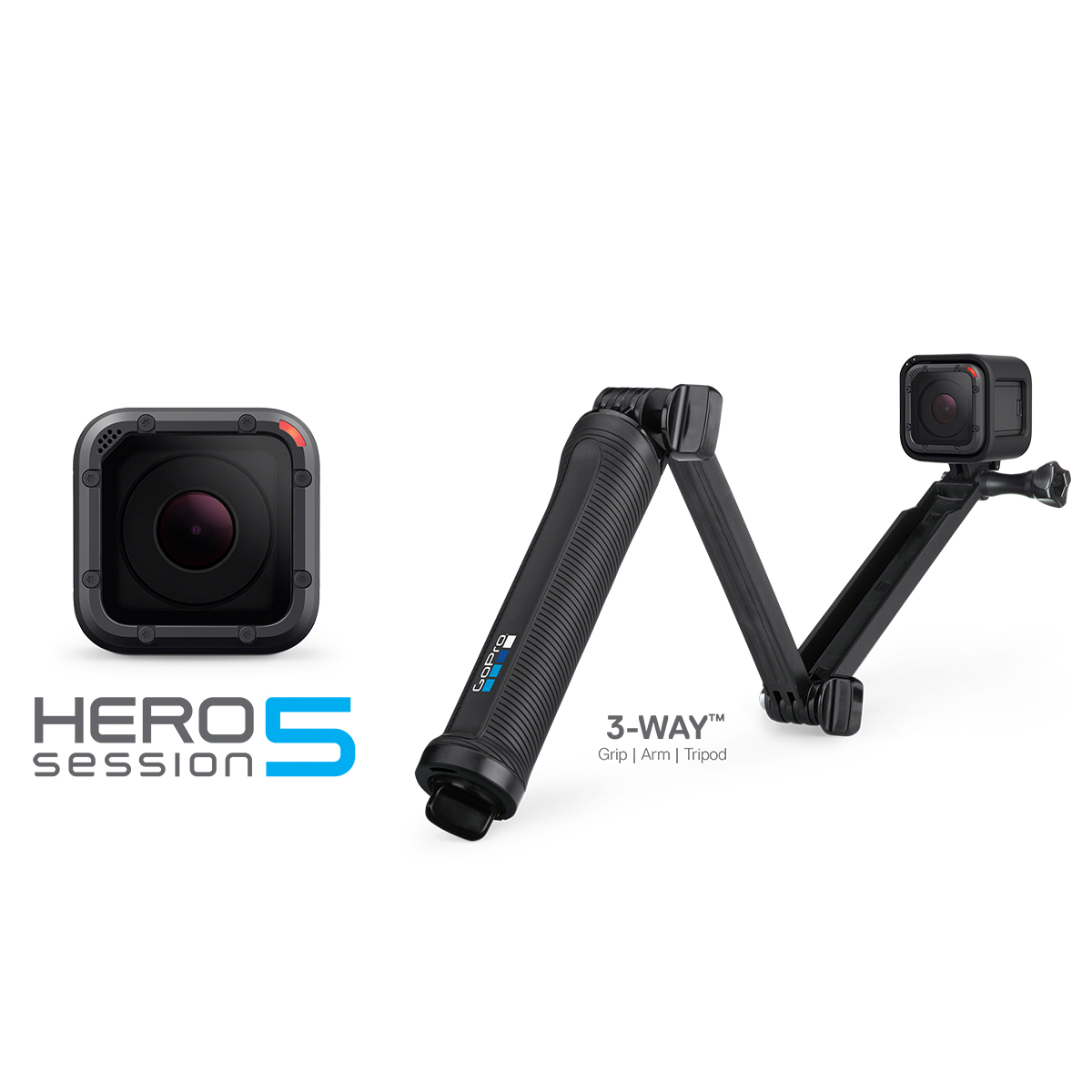 FREE GoPro 3-Way Mount with HERO5 Session Purchase ($69.99 Value)