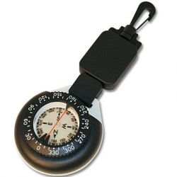Compass & Mini Dive Slate with Retractor