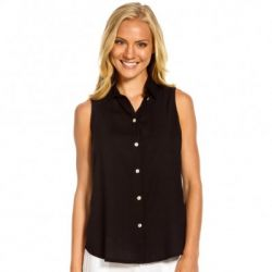 Santiki Lindy Button Up Sleeveless Top (Women's)