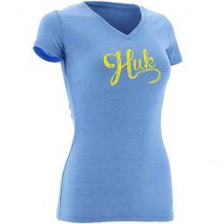 Huk Script V-Neck Short-Sleeved Performance T-Shirt (Women's)