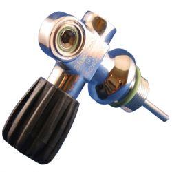 Blue Steel DIN/YOKE Cylinder Valve