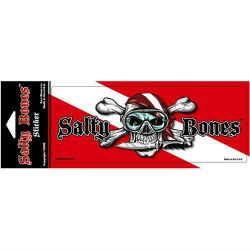 Salty Bones Skull and Crossbones Dive Flag Decal
