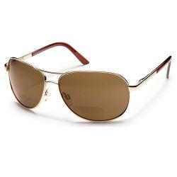 Suncloud Aviator Gold/Brown Sunglasses +2.50