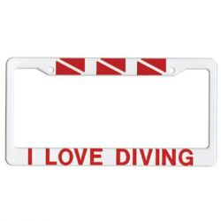 Scuba Diving License Plate Frames