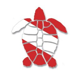 Dive Flag Turtle Decal