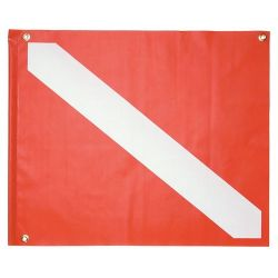 Vinyl Boat Dive Flag 20 by 24 Inches