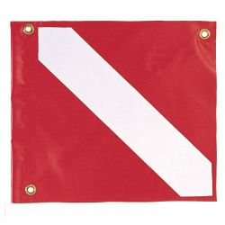 Vinyl Scuba Diving Flag 14 by 16 Inches