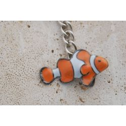 Big Blue Clownfish Key Chain