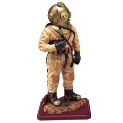 Commercial Diver Statue 8 Inch