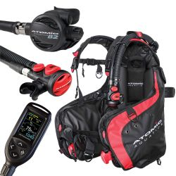 Atomic BC1 BCD Scuba Package with B2 Regulator, SS1 Octo/Inflator, and Cobalt 2 Console Computer