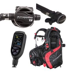 Atomic BC1 Elite SCUBA Package with T3 Regulator, SS1 Octo, and Cobalt 2 Console Dive Computer