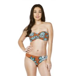Bikini Lab Desert Petals Twist Bandeau Bikini Top (Women's)