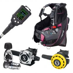 ScubaPro Bella Upgrade Scuba Package (Women's) with MK25 EVO/A700 Regulator, R195 Octopus, Galileo Console