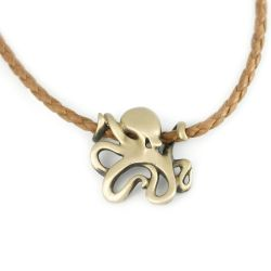 Bronze Octopus Necklace by Big Blue Jewelry