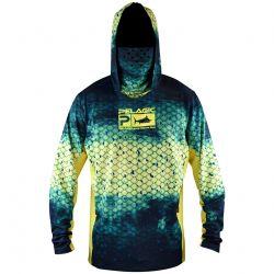 PELAGIC Exo-Tech +50 UPF Long-Sleeved Hoodie with Face Shield
