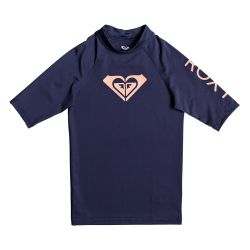 Roxy Whole Hearted Short-Sleeve UPF 50+ Rashguard (Girls')