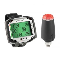 Mares Quad Air Wrist Dive Computer with LED Transmitter