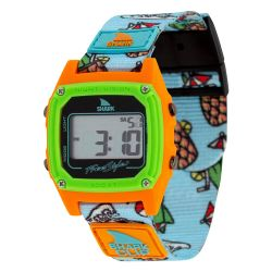 Freestyle Shark Classic Clip LCD Dive Watch (Unisex) -- Blue/Orange