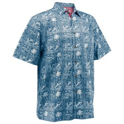 PELAGIC Islander Woven Short-Sleeve Button-Down Shirt