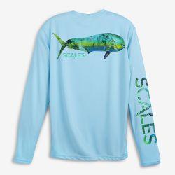 Scales Tropical Mahi UPF 50+ Long-Sleeve Pro Performance Shirt (Men's)
