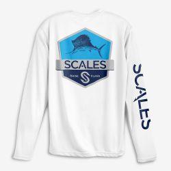 Scales Gear Sailfish Badge  UPF 50+ Long-Sleeve Performance Shirt (Men's)