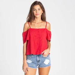 Billabong Summer Fling Cold Shoulder Top (Women's)