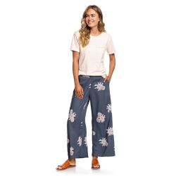 Roxy Midnight Avenue Wide Leg Viscose Pants