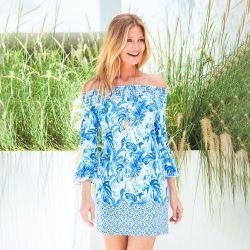 Cabana Life UPF 50+ Palm Desert Off the Shoulder Dress (Women's)