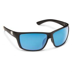 Suncloud Councilman Polarized Polycarbonate Sunglasses (Men's) - Matte Black/Blue Mirror