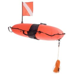 Inflatable Torpedo Buoy with 60' Line - Orange