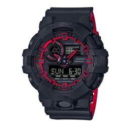 G-Shock Analog-Digital Watch Red with Black Resin Strap (Men's)